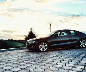 a5, audi, and black image
