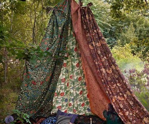 nature, hippie, and tent image