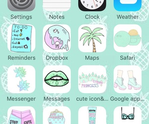 icons, mint, and summer image