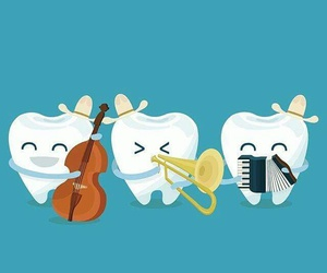 funny, music, and tooth image