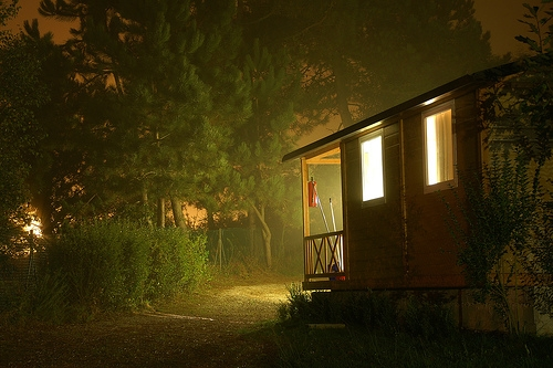 bungalow, cabin, and camping image