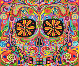 skull, colors, and colorful image