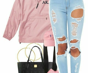 gold hoops, pink sneakers, and gold watches image