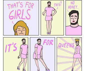 Queen, funny, and pink image