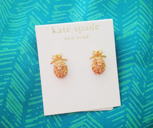 earrings and pineapple image
