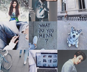blue, moodboard, and chanyeol park image