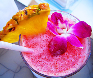 drink, pink, and flowers image