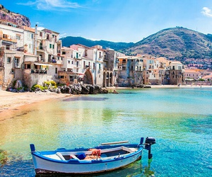 beach, blue, and europe image