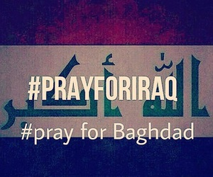 baghdad, iraq, and prayforpeace image