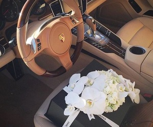flowers, car, and chanel image