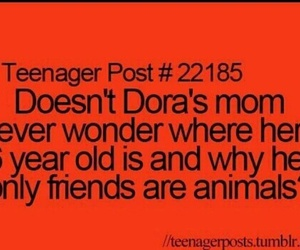 funny, Dora, and teenager post image
