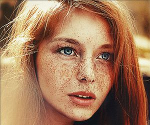 freckles, redhead, and eyes image