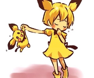 pokemon, pichu, and yellow image