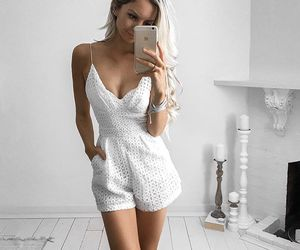 girl, fashion, and white image