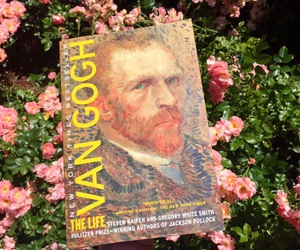 art, flowers, and van gogh image