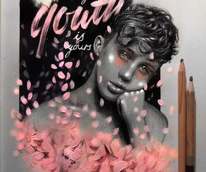 flowers, pink, and youth image