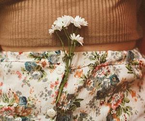female, flower, and photo image