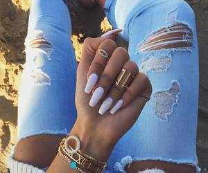 nails, style, and rings image