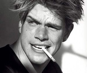 matt damon, 90s, and black and white image