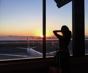 airplane, love, and airport image