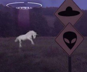 alien and unicorn image