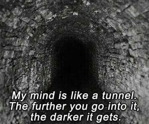 Darkness and tunnel image