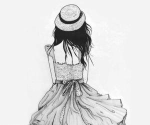 anime, black and white, and dress image