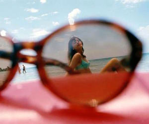 beach and glasses image