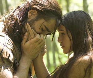 the new world, colin farrell, and pocahontas image