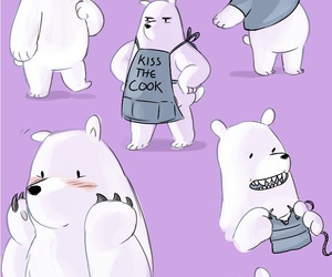 cartoon, grizzly, and ice bear image