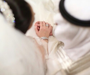 arab, couple, and wedding image