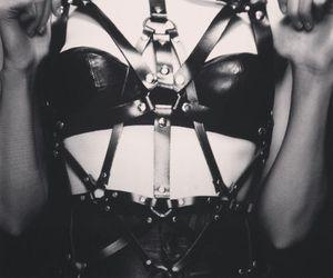 straps, gothic design, and wild trash image