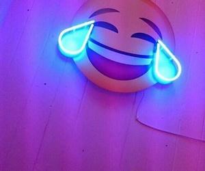 emoji, blue, and light image