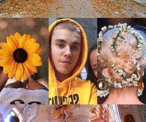 background, flowers, and justin image