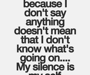 quote, silence, and life image