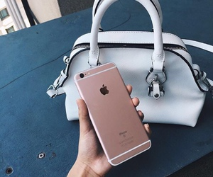iphone, apple, and bag image