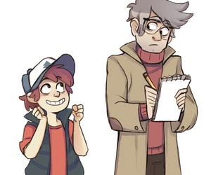 gravity falls, dipper pines, and ford pines image