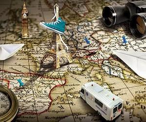 paris, travel, and map image
