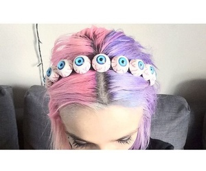pastel goth and hair image