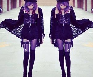 pastel goth and black image