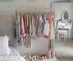 pink, bedroom, and clothes image