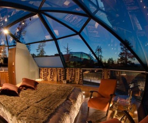 bedroom, room, and sky image