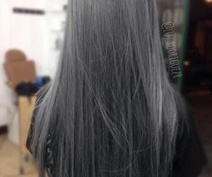 hair, fashion, and gray hair image
