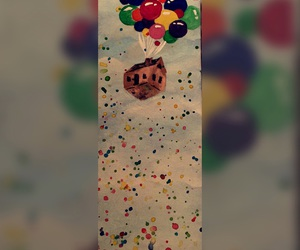acrylic, balloons, and up image