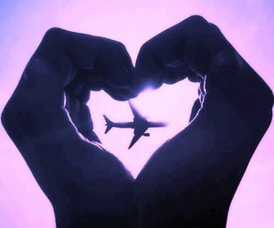 heart, love, and airplane image