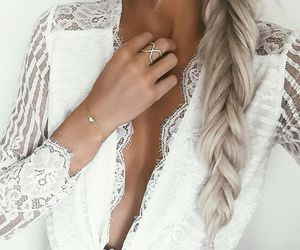 blond, fashion, and necklace image