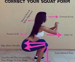fitness, girl, and squat image