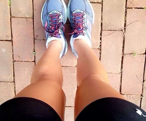 legs, nike, and running image