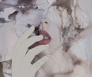 art, lips, and grunge image