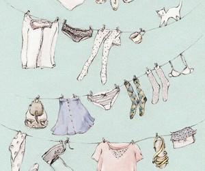 clothes, varal, and wallpaper image